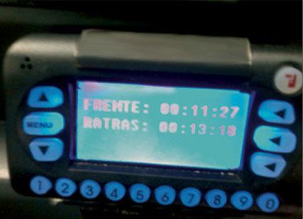 display integrado ao GPS do ônibus